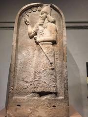 Gypsum Stela of the Assyrian King Ashurnasirpal II (883-859 BC) (eyair) Tags: uk england london britishmuseum assyria ashmashashmash