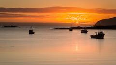 Sunrise over Caolas Bay 2 (David Jones 2) Tags: sunrise boats scotland outer barra hebrides vatersay caolas bhatarsaigh