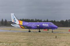 G-LGNJ Saab 340 Loganair Edinburgh airport EGPH 24.03-16 (rjonsen) Tags: airport edinburgh purple propeller saab turboprop 340 loganair flybe egph