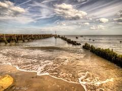 Walberswick Beach (Ian Gedge) Tags: uk sea england sky english beach water suffolk britain wave british groyne defences eastanglia walberswick
