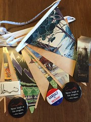 Hobbit bunting and swag (artnoose) Tags: movie mail buttons lotr gandalf houghton hobbit publishing swag tolkien harcourt mifflin bunting publisher