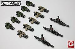 Pulse Rifles and Smartguns (R.Goff1) Tags: rifles aliens smartgun pusle brickarms