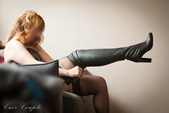 elle219 (Cuir Couple) Tags: leather bondage skirt bdsm master jacket jupe mistress veste leder matre pant pantalon cuero cuir hosen cravache maitresse martinet cuissardes