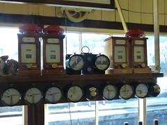 Signal Box Displays (Thomas Kelly 48) Tags: wales lumix railway panasonic instruments llangollen dials signalbox fz150