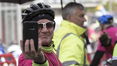 Caught in the act (Frank Fullard) Tags: charity smile photographer cyclist lol candid cycle mayo kenny caught pinkribbon iphone selfie castlebar johnkenny fullard tourmakeady iphonography frankfullard frjohnkenny
