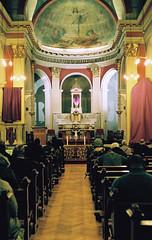 Good Friday Veneration of the Cross (Matthew Huntbach) Tags: cross lewisham veneration goodfriday eos500n fujisuperia400 stsaviours se13
