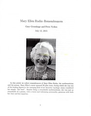 Mary Ellen Rudin - Remembrances (ali eminov) Tags: journals mathematicians remembrances organizations americanmathematicalsociety maryellenrudin topologyanditsapplications