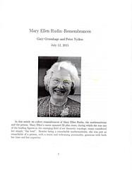 Mary Ellen Rudin - Remembrances (ali eminov) Tags: journals mathematicians remembrances organizations americanmathematicalsociety maryellenrudin topologyanditsapplications
