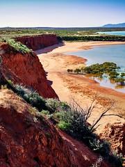 Cliffs (Rosa Perry) Tags: cliff rock landscape botanical coast outdoor australia canyon cliffs soil shore southaustralia arid ptaugusta