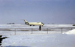 Now Arriving in Champaign (craigsanders429) Tags: winter aircraft airports airlines dc9 ozarkairlines champaignillinois landingaircraft winterphotography universityofillinoiswillardairport ozarkdc9