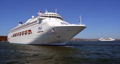 Pacific Jewel & Pearl 2 (PhillMono) Tags: cruise reflection architecture boat nikon ship pacific harbour dolphin sydney piano australia vessel bow po quarter pearl dslr renzo jewel d7100