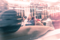 IMG_4388 (PauloRossi) Tags: reflection japan train japanese tokyo mirror metro hiking transport perspective busy inside nikko selfie japao