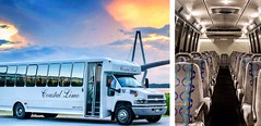 Coastal Shuttle Bus (Carolina's Executive Limo Line) Tags: wild bus sc palms island corporate coach dunes group limo line resort kiawah mount charleston retreat transportation shuttle service motor executive isle pleasant minibus seabrook carolinas