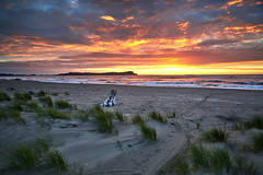 Atardecer en Pangal - Maullin (Patagonia-Chile) (Noelegroj (More than 6 Million views.Thank you all) Tags: chile sunset sky patagonia costa beach grass clouds landscape atardecer sand cloudy playa paisaje arena coastal cielo nublado hierba maullin pangal