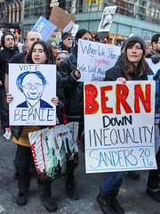 bernie-9629 (teqmin) Tags: nyc blue demo march support rally demonstration bernie unionsquare lowermanhattan youngpeople multigenerational handmadesigns berniesanders votebernie tequilaminsky feelthebern marchtozuccottipark heartfeltsigns americaneedsapoliticalrevolution