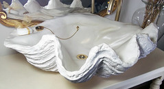 Gold Sink 5 (LittleGems AR) Tags: ocean sea sculpture sun beach home statue stone giant bathroom shower gold aquarium soap sand bath crystals hand contemporary unique decorative shell craft style toilet towel clam basin special clean shampoo taps wash ornament gift present pearl reef spa figures gems opulent gem fossils oneoff clamshell mollusks cloakroom bespoke personalised tridacna sculpt crafted gigas facetowel