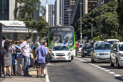 Alf Ribeiro 0179 0098 (Alf Ribeiro) Tags: road street city travel brazil people urban building bus car station architecture modern stairs america office downtown boulevard cityscape traffic outdoor south transport center scene business stop commercial lane transportation vehicle brazilian metropolis paulo avenue sao financial economy boarding paulista thoroughfares