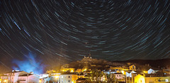 Star Trails. Boniches. Cuenca NIGHT.Earth Speed