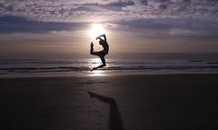 Sun Dance (sam roscoe) Tags: silhouette dance cornwall peninsula rame whitsands