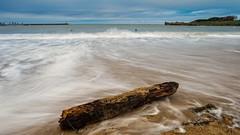 El tronco (Carpetovetn) Tags: longexposure espaa marina mar agua playa madero tronco olas cantabria castrourdiales largaexposicin marcantbrico nikon1835 playadebrazomar nikond610