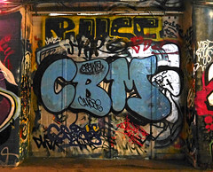 CBM (cocabeenslinky) Tags: street city uk blue england urban streetart london art writing lumix graffiti paint artist photos south united capital letters kingdom tunnel can spray east panasonic waterloo writers graff february leake se1 artiste chose 2016 cbm dmcg6 cocabeenslinky