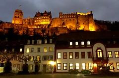 Heidelberger Schloss vom Karlsplatz (barmicity) Tags: castle night germany deutschland europa europe heidelberg schloss