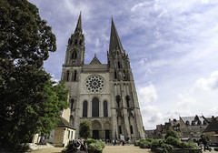 Facade of Chartres Cathedral (Lawrence OP) Tags: west facade cathedral towers unesco spire chartres