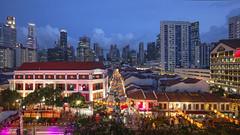Chinatown CNY Celebration 2016, Singapore (gintks) Tags: decorations singapore cityscapes bluehour singapur yearofthemonkey templestreet 2016 bustling eutongsenstreet exploresingapore singaporetourismboard zodiacmonkey yoursingapore monkeyyear gintaygintks zodiaccoins