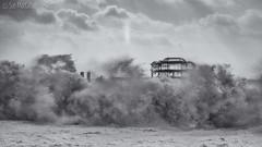 Storm Imogen meets the West Pier (Sue MacCallum-Stewart) Tags: sea wild sky seascape clouds sussex coast brighton wind gales westpier storms hightide stormimogen
