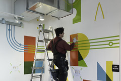 Learning Center Mural (scottboms) Tags: mural projects arl signpainting 1shot newbohemiasigns analogresearchlab