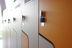 Lockers (Sjn) Tags: orange lockers grey lock