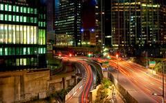 Une nuit  La Dfense (jjcordier) Tags: paris lumire route circulation immeuble ladfense trane