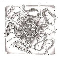 Tangle 220 (kraai65) Tags: drawing doodle zentangle zendoodle zendala