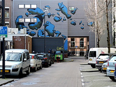 Rotterdam: : DAAN BOTLEK (Akbar Sim) Tags: streetart holland netherlands graffiti rotterdam mural nederland rotjeknor roffa akbarsimonse daanbotlek akbarsim