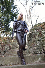 Cathastrophe (DrosselTira) Tags: game leather set outfit cosplay games suit master armor elder thief videogame cosplayer dagger tes thieves guild vex scrolls skyrim tesv