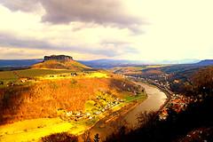 Elbtal,Blick von der Festung Knigstein (Sachsen) (jens_helmecke) Tags: nature water river germany landscape deutschland nikon wasser saxony natur jens sachsen elbe elbtal flus helmecke
