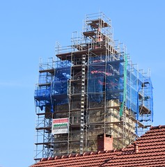 (:Linda:) Tags: church germany town bluesky thuringia scaffold themar