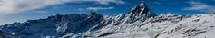 Monte Rosa - Cervino (rattoeur) Tags: winter panorama snow mountains alpes sci hugin cervino