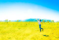 Free (luisgudino31) Tags: california cactus sun nature field fly nationalpark jump desert dream joshuatree free floating levitation takingflight liberated guyjumping guyinyellow