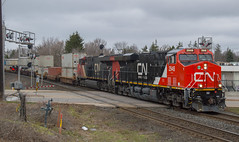 A Clean GEVO..I'll Take It (Joseph Bishop) Tags: railroad cn train track tracks rail railway trains rails ge railfan brantford hardyroad tier4 gevo 2948 es44ac cndundassubdivision