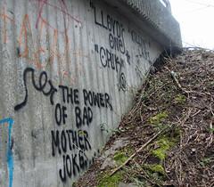 Bad Mother Jokes. (universaldilletant) Tags: graffiti power frankfurt bad mother jokes lloyd mutter slogans mudda deine cpuk