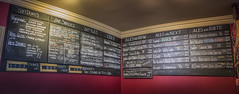 Ale House Chalk Board (archie.logical) Tags: panorama beer bar pub interior ale cider statistics snacks chalkboard