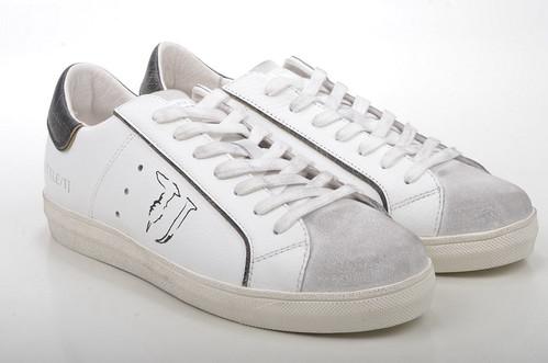 Trussardi Jeans Sneaker 77S040 Kalbsleder weiß schwarz (white) (1)