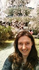 Sakura selfie no.3 (eweliyi) Tags: woman me girl smile face smiling japan self pagoda cherryblossom sakura ja yoshino selfie yoshinoyama project365 eweliyi 365v4