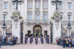 Changing Guards. (bgfotologue) Tags: uk travel winter england westminster landscape photography photo uniform image britain guard ceremony palace queen buckinghampalace imaging   royals victoriamemorial 2016  bgphoto changingguard   unitedkindom      500px tumblr    bellphoto