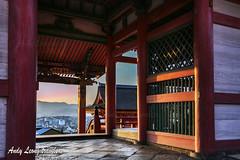 sunset - Kiyomizu-dera (Pic_Joy) Tags: world heritage japan spring kyoto shrine asia blossoms   sakura cherryblossoms  kiyomizudera hanami  higashiyama    unesco