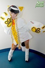 IMG_8586 (Neil Keogh Photography) Tags: red white black anime yellow cat mask boots cosplay top manga videogame hood shorts cosplayer paws pigtails catears smileyface plats borderfx blazeblue taokaka manchesteranimegamingcon2016