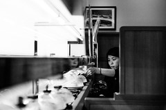 Starving. (MichelleSimonJadaJana) Tags: street bw white black monochrome japan lens photography conversion sony 28mm snapshot wide documentary lifestyle full mount snaps ii frame  okinawa f2 fe fullframe ultra converter 21mm nex   a7r vsco a7rii ilce7rm2
