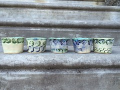 slab built icecream bowls at UCAL (karenchristine552) Tags: city urban usa philadelphia westphiladelphia pennsylvania pa ornaments clay pottery philly streetscenes westphilly universitycity iphone handbuilt cedarpark ucal clayornaments universitycityartsleague handbuiltpottery icecreambowl downtowndistricts universitycityartsleaguepotterystudio stampedvessels