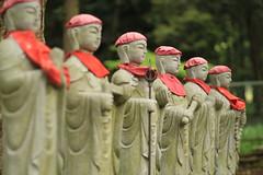 Six Stone images of Jizo (Kshitigarbha) (seiji2012) Tags: statue temple      canonflickraward